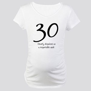 1b7c4fc804a1d 30th Birthday Maternity T-Shirts - CafePress