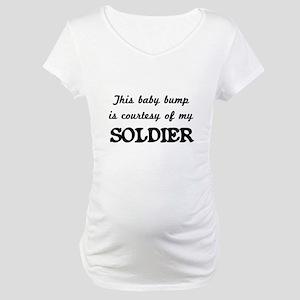 c812c6176ef02 Pregnant Army Wife Maternity T-Shirts - CafePress