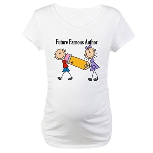 Future Famous Author Maternity T-Shirt
