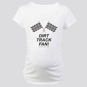 Checker Flag Dirt Maternity T-Shirt
