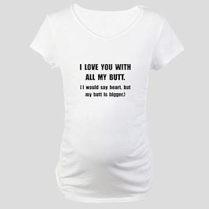 Boyfriend Short Sleeve Maternity T-Shirts - CafePress