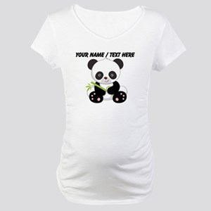Custom Panda With Bamboo Maternity T-Shirt