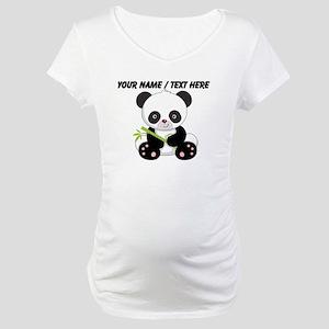19187884 Custom Panda With Bamboo Maternity T-Shirt