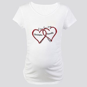 A true love story: personalize Maternity T-Shirt