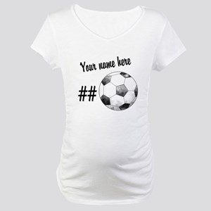 6cb3fe9aa8f4c Custom Soccer Maternity T-Shirts - CafePress