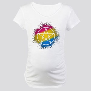 Pansexual Pride Pentacle Maternity T-Shirt