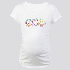 Peace Love Laugh Maternity T-Shirt