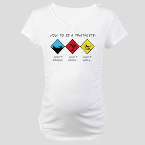 a849f061 Funny Triathlon Maternity T-Shirts - CafePress