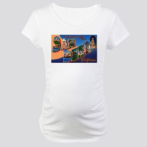 San Diego California Greeting Maternity T-Shirt