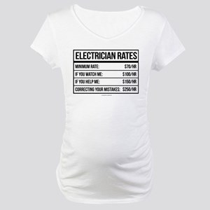 Electrician Rates Humor Maternity T-Shirt