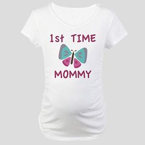 3f0d9a2189a6a First Time Mum Maternity T-Shirts - CafePress