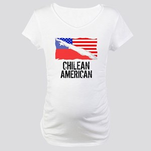 Chilean American Flag Maternity T-Shirt