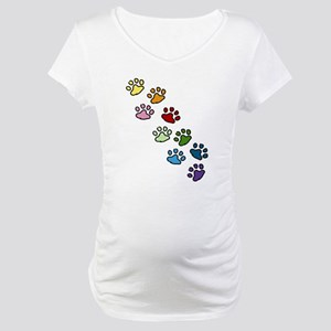 Paw Prints Maternity T-Shirt