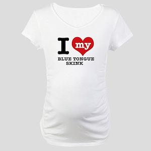 48e87822 I love my Blue Tongued Skink Maternity T-Shirt