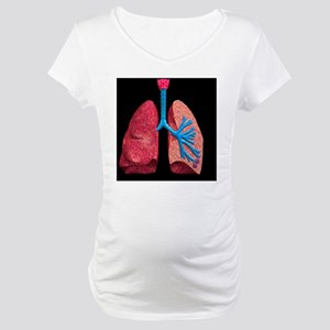 Human lungs Maternity T-Shirt