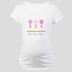 db98cfde793c2 Pink Ribbon Breast Cancer Maternity T-Shirts - CafePress