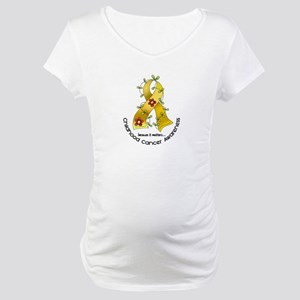 54c88b0ddd2 Pediatric Cancer Awareness Maternity T-Shirts - CafePress