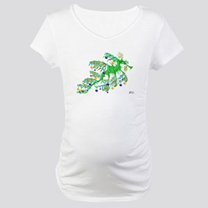 Festive Sea Dragon Maternity T-Shirt