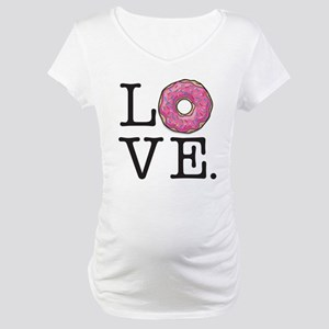 8a8008324ebf3 Donut Love Funny Food Humor Maternity T-Shirt