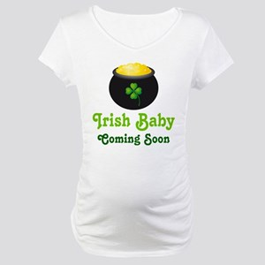 49339e6b619cc Leprechaun Pregnancy Maternity T-Shirts - CafePress