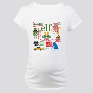 155fa173487f1 Elf Movie Collage Maternity T-Shirt