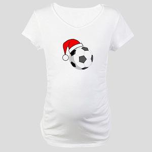 363ab4192ffcc Happy Holidays Soccer Maternity T-Shirts - CafePress