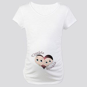 Cute Double Trouble Twins Maternity T-Shirt