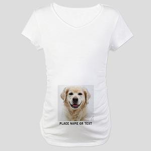 Dog Photo Customized Maternity T-Shirt