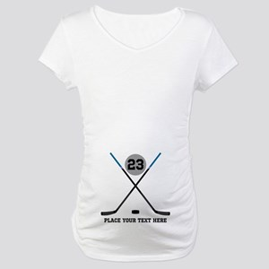 Ice Hockey Personalized Maternity T-Shirt