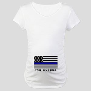 Thin Blue Line Flag Maternity T-Shirt