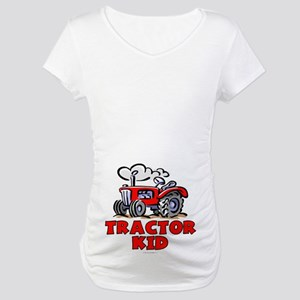 Red Tractor Kid Maternity T-Shirt