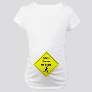 Future Runner On Board Maternity T-Shirt