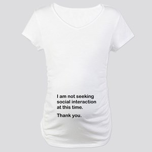 Antisocial Maternity T-Shirt