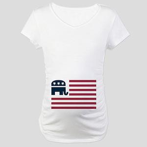 GOP Flag Maternity T-Shirt