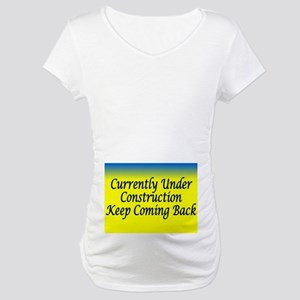 aa maternity under comstruction Maternity T-Shirt