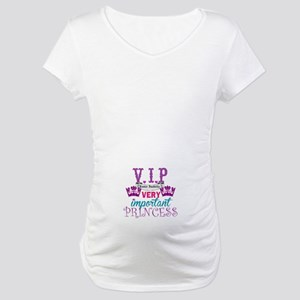 Vip Princess Personalize Maternity T-Shirt