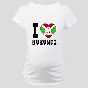 I Love Burundi Maternity T-Shirt