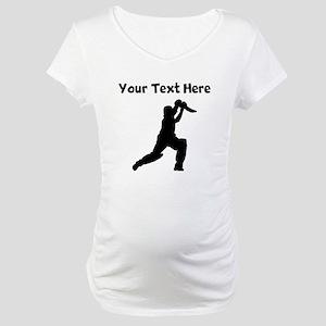 Cricket Player Maternity T-Shirt