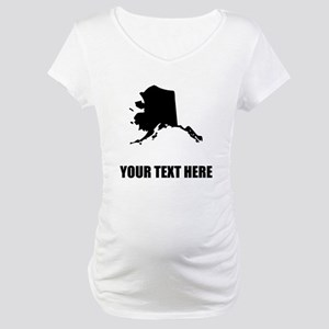 Custom Alaska Silhouette Maternity T-Shirt