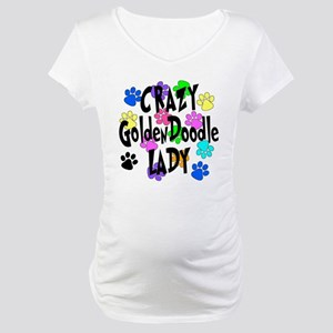 Crazy Goldenddoodle Lady Maternity T-Shirt