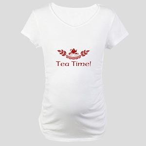 Tea Time Maternity T-Shirt