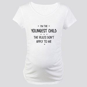 YOUNGEST CHILD 3 Maternity T-Shirt