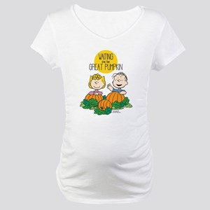 The Great Pumpkin Is Coming Maternity T-Shirt