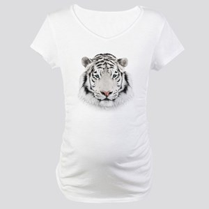 White Tiger Head Maternity T-Shirt