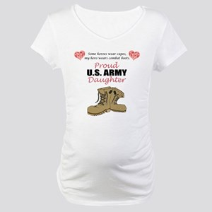 Proud US Army Daughter Maternity T-Shirt