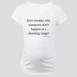 Guns & Massacres Maternity T-Shirt