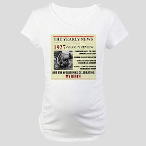 born in 1927 birthday gift Maternity T-Shirt