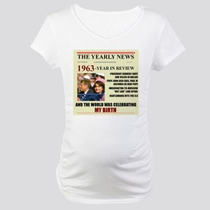 born in 1963 birthday gift Maternity T-Shirt