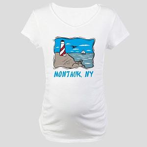 Montauk, NY Maternity T-Shirt
