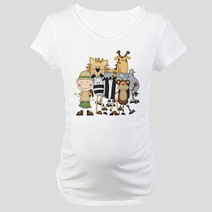 Boy on Safari Maternity T-Shirt